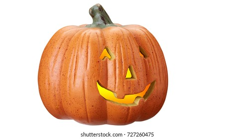Pumpkin for Halloween isolated on a white background