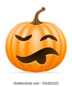 pumpkin halloween stock illustration isolated on white background