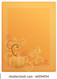 Pumpkin Harvest Illustration for Invitation, Announcement, or Menu. Also available as Vector.