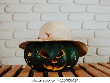 Pumpkin hat. Pumpkin.