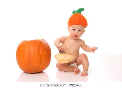 pumpkin hat boy carving