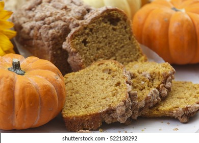 Pumpkin holiday-themed sweet pound cake