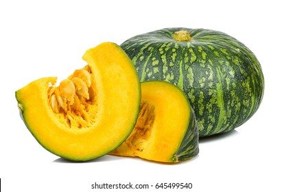 Pumpkin isolated on the white background .