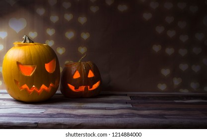 pumpkin jack lamp and candle inside, halloween holiday, witchcraft, All Saints Day