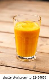 pumpkin juice in the glass