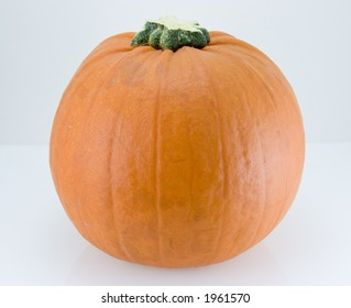A pumpkin on a white background.
