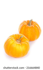 pumpkin on the white background do holloween object