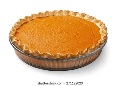 Pumpkin Pie, Pie, Isolated.