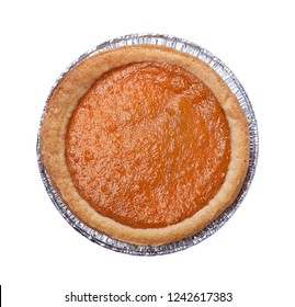 pumpkin pie isolated on white background