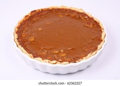 Pumpkin Pie on white background
