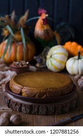 Pumpkin Pie with Walnut Honey and Persimmon
