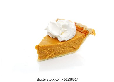 pumpkin pie white background