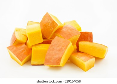 Pumpkin pieces isolated on white background