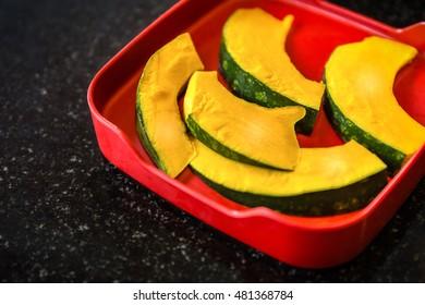 Pumpkin Prepared for Cooking