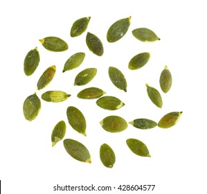 pumpkin seeds isolated on white background