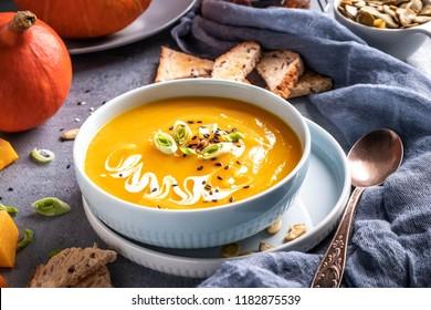 pumpkin soup, close-up