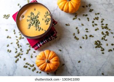 pumpkin soup mashed