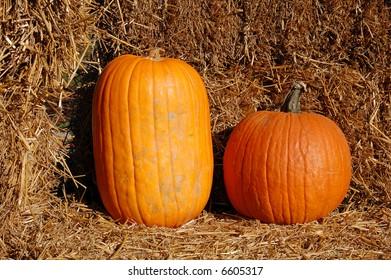 pumpkin and straw