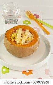 pumpkin stuffed with vegetables