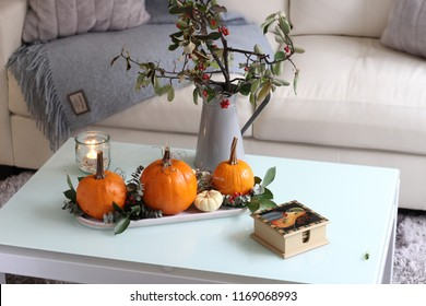 Pumpkin table decoration