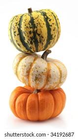 pumpkin three orange halloween thanksgiving harvest isolated