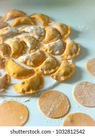 pumpkin vareniki with cheese
