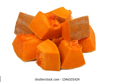 Pumpkin vegetable cube slice