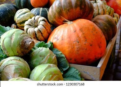 Pumpkin at the weekly market