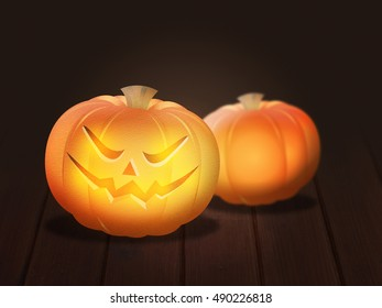 Pumpkins Halloween Background
