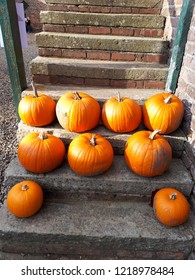 Pumpkins on the steps