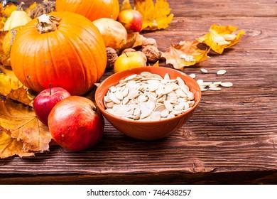 Pumpkins and seed