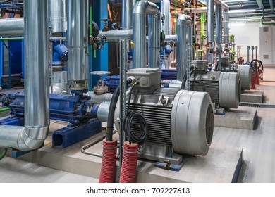 Pumps in a cogeneration station