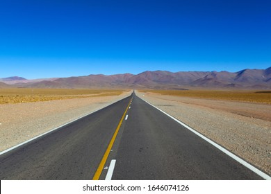 The  Puna, Salta, North West, Argentina. September 06 2018: National Route 51. This route go from Salta to San Antonio of the  Cobres.