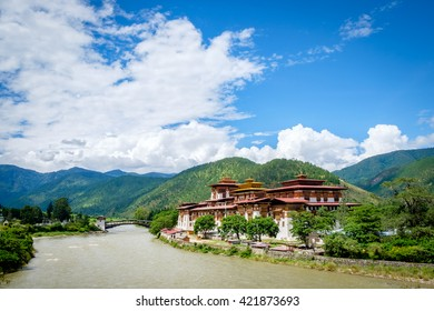 "The Punakha Dzong, meaning ""the palace of great happiness or bliss is the administrative centre of Punakha District in Punakha, Bhutan"