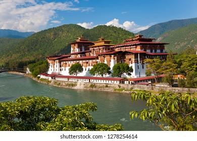 Punakha Dzong or monastery, Punakha, Bhutan