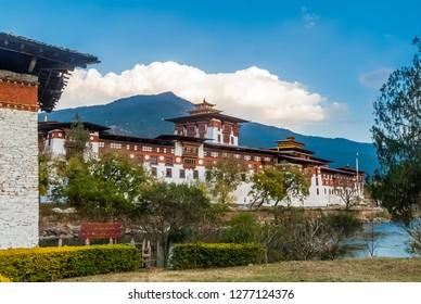 Punakha Dzong Monastery, one of the largest monastery in Asia, Punakha, Bhutan