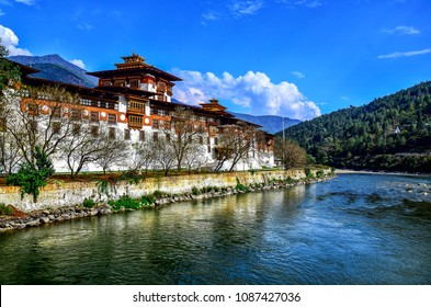 Punakha Dzong in western Bhutan it's often considered the most beautiful Dzong in the country, it is also the most important Dzong in Bhutanese history.