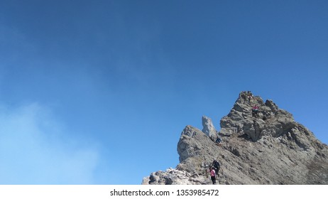 Puncak Garuda, the peak of Mount Merapi when the sky is clear