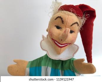 Punch Puppet Clown Judy Portrait