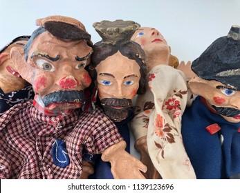 Punch Puppet Show Portrait Judy