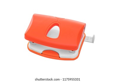 Puncher for office on a white background. Close-up.