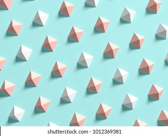 Punchy pastels abstract background 3D illustration