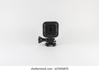 PUNE, INDIA - April 15, 2017: GoPro HERO4 Session. GoPro makes the world's most versatile cameras. They are often used in extreme action video and photography. Camera isolated on white background.