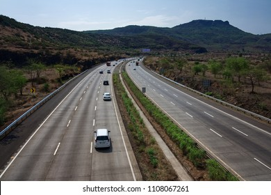 Pune, India - June 03 2018: The Mumbai Pune Expressway.