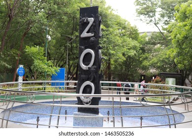 PUNE, INDIA- JUNE 21, 2019: Entrance of the Rajiv Gandhi Zoological Park adds to the aesthetic aspects of the zoo in the city.