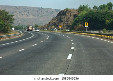 Pune, India- May 10 2018: The Mumbai Pune Expressway.