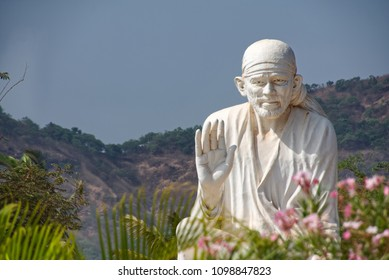Pune, India - May 26 2018: Statue of Saibaba at Hadshi Temple, near Pune India.