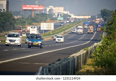 Pune, India - November 03 2018: The Mumbai Pune Expressway near Pune India.