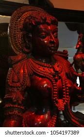 PUNE, INDIA - OCT 2, 2017 - Meenakshi, consort of Shiva, Raja Dinkar Kelkar Museum, Pune, India