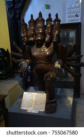 PUNE, INDIA - OCT 2, 2017 - Panchmukhi Maruti Rudra statue in Raja Dinkar Kelkar Museum, Pune, India